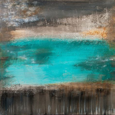 """""""1901 – lagoon in the interlayer – turquoise blue – 90 x"""