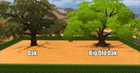 Unlocked Oak Pack (8 new trees) by Bakie at Mod The Sims