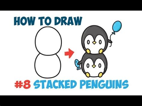 How to Draw Cute Kawaii Penguins Easy Step by Step Drawing