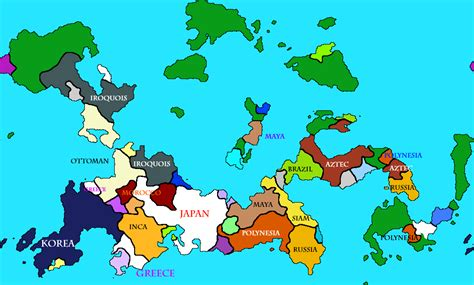 Map of my latest civ 5 game