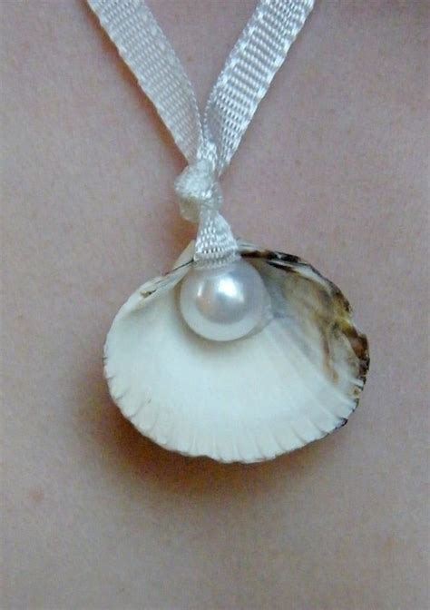 Sea Shell + Pearl Necklace · How To Make A Shell Necklace