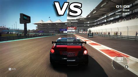 Grid Autosport vs Grid 2 [Side by Side] - YouTube