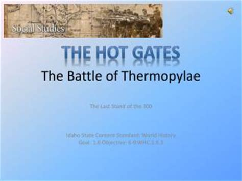PPT - The Battle of Thermopylae PowerPoint Presentation