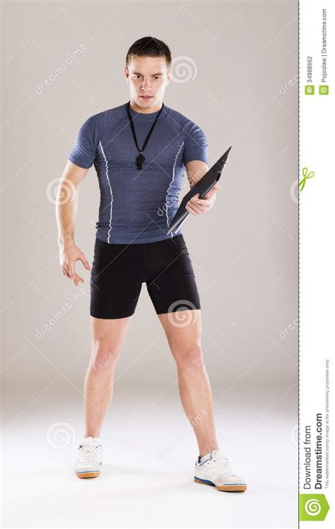 Fitness Coach Stock Photography - Image: 34988662