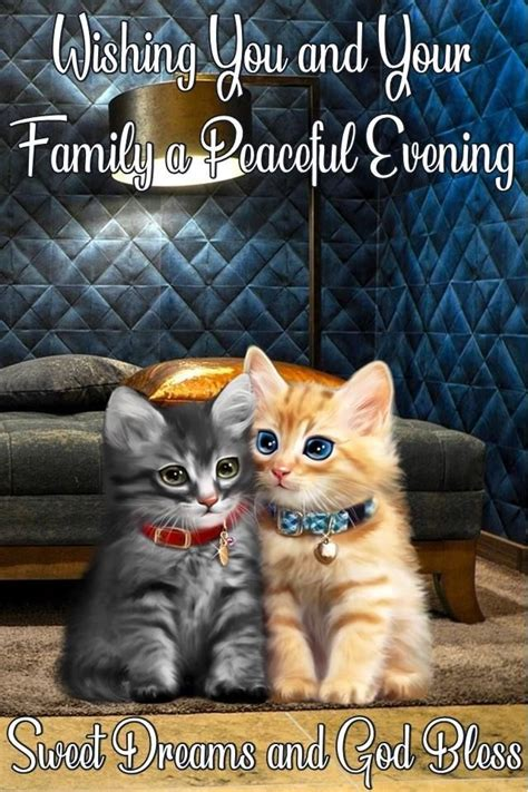 Wishing You And Your Family A Peaceful Evening Sweet