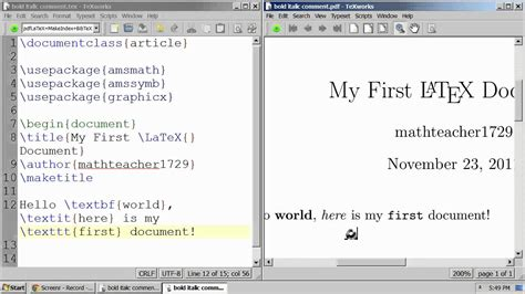 LaTeX Tutorial 02 bold, italic, fixed-width font, and