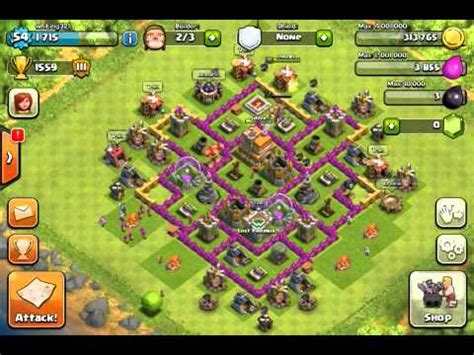 Clash Of Clans: BEST TH7 Defense Strategy - YouTube