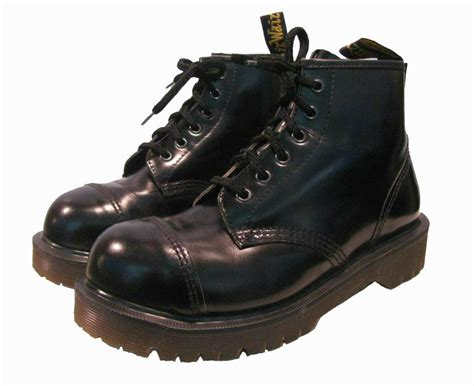 Vintage 6 Eyelet Steel Toe Dr Marten Boots from England Womens