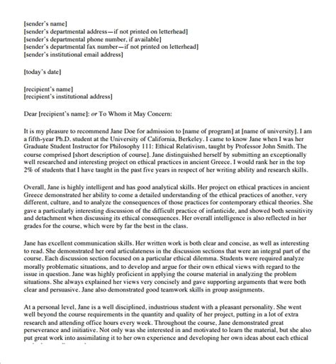 FREE 9+ Sample Student Reference Letter Templates in PDF