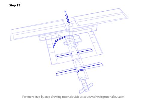 Learn How to Draw a Space Station (Outer Space) Step by
