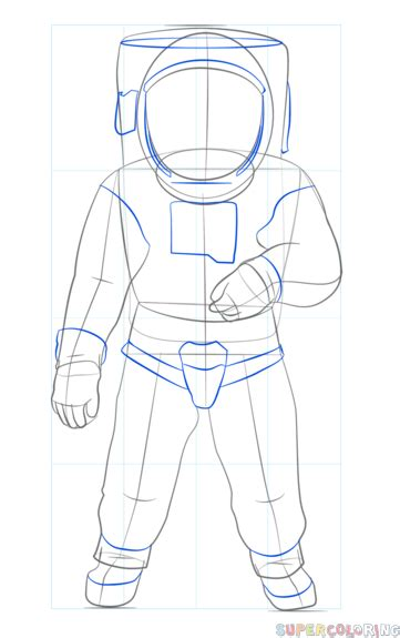 How to draw an astronaut | Step by step Drawing tutorials