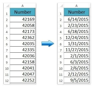 How to Change 5 Digit General Numbers to Date Format in