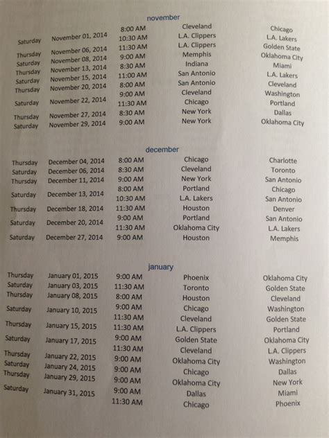 FOX Sports PH releases its schedule of NBA games for the