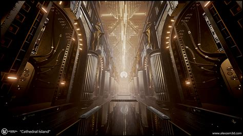 UE4 - Futuristic cathedral — polycount