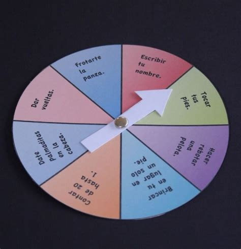 Silly Spinner Game in Spanish {Printable Activity} This is