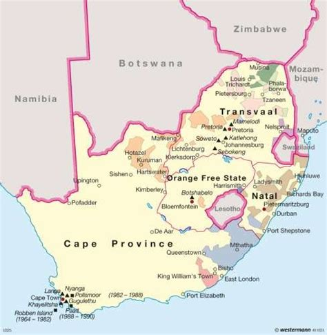 Map Of Apartheid South Africa