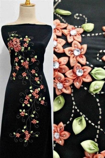 How to Make Satin Ribbon Flowers with Dress Designs