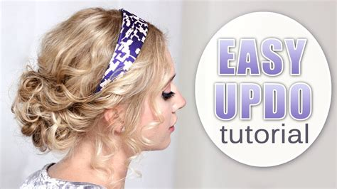 Quick and easy prom/party/wedding updo hairstyle Curly