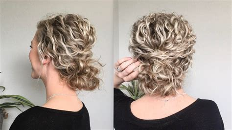 Naturally Wavy/Curly Hair Updo   Curly hair updo