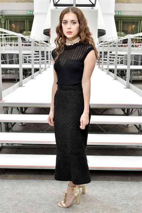 Felice Jankell at Paris Fashion Week - Chanel Show 3/7/ 2017