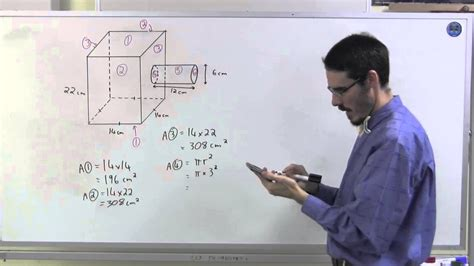 Surface area and volume: composite shape with a cylinder